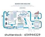 flat line design concept for... | Shutterstock .eps vector #654944329