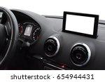 modern car interior with... | Shutterstock . vector #654944431