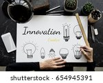 illustration of creativity... | Shutterstock . vector #654945391
