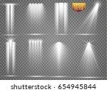 vector light sources  concert... | Shutterstock .eps vector #654945844