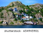 Colorful Houses Located On The...