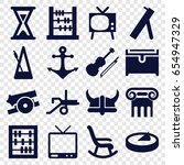 antique icons set. set of 16... | Shutterstock .eps vector #654947329