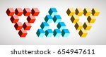 infinity or impossible triangle ... | Shutterstock .eps vector #654947611