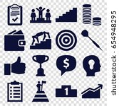 success icons set. set of 16... | Shutterstock .eps vector #654948295