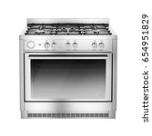 Single gas range cooker with...