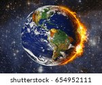 global warming and pollution... | Shutterstock . vector #654952111