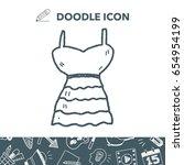 dress doodle | Shutterstock .eps vector #654954199
