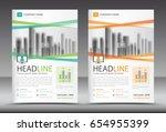 business brochure flyer... | Shutterstock .eps vector #654955399