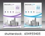 business brochure flyer... | Shutterstock .eps vector #654955405