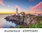 portland  maine  usa at... | Shutterstock . vector #654955645