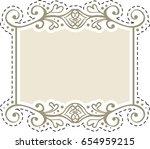 vintage sticker of hand drawn... | Shutterstock .eps vector #654959215