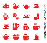 tea icons set. set of 16 tea... | Shutterstock .eps vector #654965014