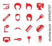 hairstyle icons set. set of 16... | Shutterstock .eps vector #654965707