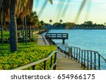 Walking Path With Palm Trees I...