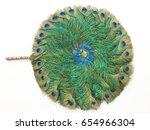 Peacock Feather Fan Pattern On...