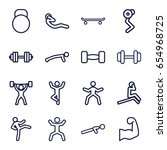 fit icons set. set of 16 fit... | Shutterstock .eps vector #654968725