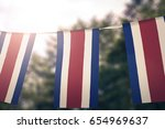 costa rica flag pennants | Shutterstock . vector #654969637