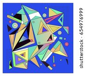 vector of triangle geometric 3d ... | Shutterstock .eps vector #654976999