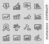 stock icons set. set of 16... | Shutterstock .eps vector #654980659