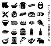 meal icons set. set of 25 meal... | Shutterstock .eps vector #654981445