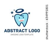 tooth logo template. | Shutterstock .eps vector #654991801