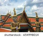 the giant at wat pra kaew ... | Shutterstock . vector #654998014