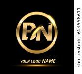 initial letter logo bn inside... | Shutterstock .eps vector #654998611