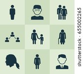 human icons set. collection of... | Shutterstock .eps vector #655002265