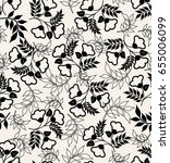 vector seamless dry floral... | Shutterstock .eps vector #655006099