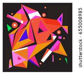 vector of triangle geometric 3d ... | Shutterstock .eps vector #655008985