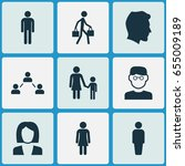 people icons set. collection of ... | Shutterstock .eps vector #655009189