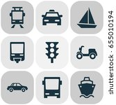 transport icons set. collection ... | Shutterstock .eps vector #655010194