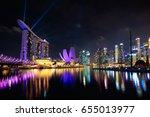 singapore city skyline ... | Shutterstock . vector #655013977