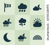 air icons set. collection of... | Shutterstock .eps vector #655018495