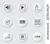 multimedia icons set....