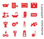 industry icons set. set of 16...   Shutterstock .eps vector #655019971