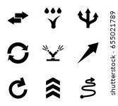 arrows icons set. set of 9...