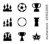 set of 9 championship filled... | Shutterstock .eps vector #655022005