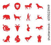 mammal icons set. set of 16... | Shutterstock .eps vector #655023949