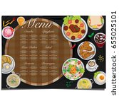 menu food restaurant template... | Shutterstock .eps vector #655025101