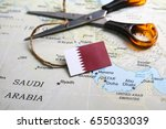 concept of diplomatic ties cut... | Shutterstock . vector #655033039