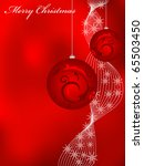 vector red greeting card for... | Shutterstock .eps vector #65503450