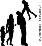 family silhouette   Shutterstock .eps vector #655035574
