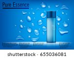blue essence cosmetic ads ... | Shutterstock .eps vector #655036081