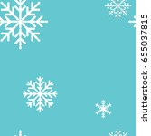 seamless pattern with snowflakes | Shutterstock .eps vector #655037815