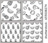set of seamless vector patterns.... | Shutterstock .eps vector #655038274