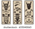 rock and roll party flyers... | Shutterstock .eps vector #655040065