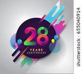28th years anniversary logo... | Shutterstock .eps vector #655040914