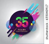 35th years anniversary logo... | Shutterstock .eps vector #655040917
