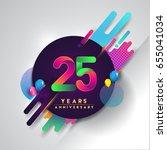 25th years anniversary logo... | Shutterstock .eps vector #655041034